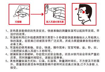 上海康庄 红外线耳温枪(TS9型)使用指南