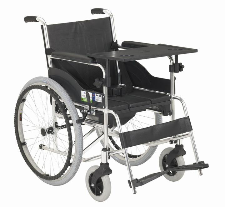 互邦HBL9-B轻型铝合金座便轮椅