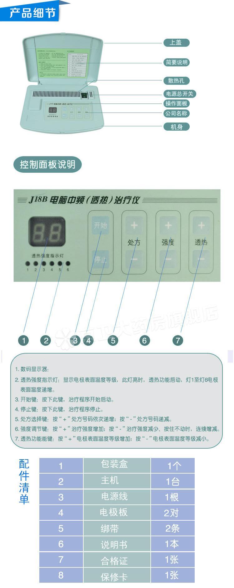 全日康 电脑中频治疗仪 J18B