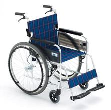 Miki 三贵轮椅车MPT-47JL型 免充气胎 可折背 蓝色(停产,勿下单)