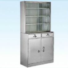 普康药品柜G-12型 不锈钢  900×250/400×1750mm