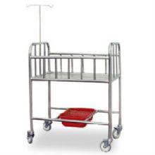山东育达全不锈钢床边式婴儿车B8型 750×450×900mm