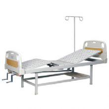 华瑞PE床头喷塑双摇病床 D141
