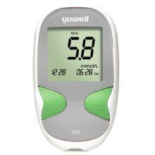 鱼跃血糖仪560 悦准Ⅱ型 含50片试纸 50采血针家用免调码 医用级精准测量