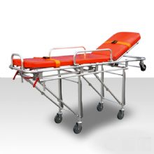 铝合金自动救护车担架YXH-3A5 左右手柄控制前导轮架可折叠,适合在狭窄的空间救护病人