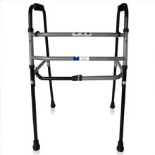 上海互邦助行器HBGX101 钢管互邦老人助行器 老年助步器 移动防滑 残疾人四脚拐杖折叠