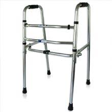 上海互邦助行器HBLX101 铝合金互邦助行器 防滑折叠老人助步器 老年人残疾人四脚拐杖