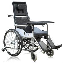 上海互邦轮椅车HBG20-B型 高靠背 带座便器钢管轮椅 操作简便 贴心 售后服务