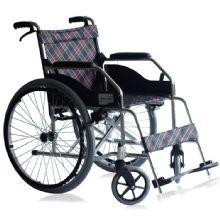 上海互邦轮椅车 HBL1-S型前后四刹车 踏板高度可调 大轮带推圈
