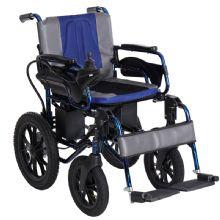 上海互邦电动轮椅车HBLD2-E 越野版扶手后翻 底盘高加粗胎 越障能力强 靠背可翻折 航续力强