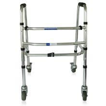 上海互邦助行器HBLX202  互邦铝合金四轮助行器 可折叠 老年人助步器高度可调节