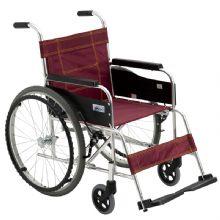 Miki 三贵轮椅车MXT-43 红色款免充气 铝合金轻便折叠