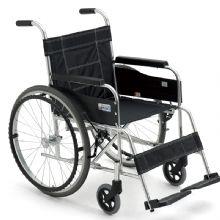 Miki 三贵轮椅车MXT-43 黑色款免充气 铝合金轻便折叠