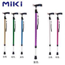 Miki 三贵伸縮拐 MRT-013(紫色细)登山杖 手杖 户外徒步超轻防滑可伸缩折叠 老人拐杖