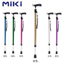 Miki 三贵伸縮拐 MRT-013(鈦色细)登山杖 手杖 户外徒步超轻防滑可伸缩折叠 老人拐杖