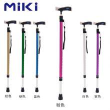 Miki 三贵伸縮拐 MRT-013(粉色细)登山杖 手杖 户外徒步超轻防滑可伸缩折叠 老人拐杖
