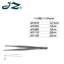 金钟组织镊J41010 12.5cm直形 1×2钩