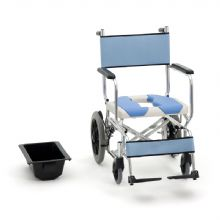 Miki 三贵轮椅车MOCC-43 坐便洗澡椅(防水黑色后轮)新款