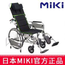MIKI 三贵轮椅车MSL-T24型 W7 高靠背轮椅可全躺半躺高靠背手动轮椅轻便折叠老人手推代步车