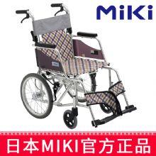 Miki 三贵轮椅车MOCC-43JL(DX)型 小轮轻便折叠 老人代步车/残疾车