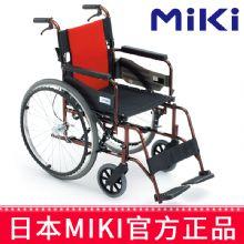 Miki 三贵轮椅车MCV-49JL型  免充气胎轻便折叠 铝合金老人手推代步车