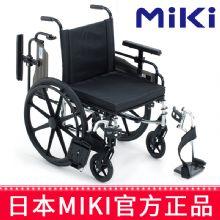 Miki 三贵轮椅车 MPTWSW-45HUS型宽敞大气活挂脚活动扶手 座高可调免充气