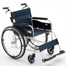 Miki 三贵轮椅车MPT-43JL型 航太铝合金车架 蓝色 S-3
