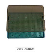 上海金钟显微外科器械消毒盒RCH040  265×162×28 M0101
