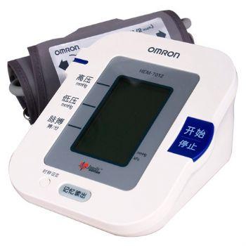 欧姆龙电子血压计HEM-7012型 全自动 上臂式
