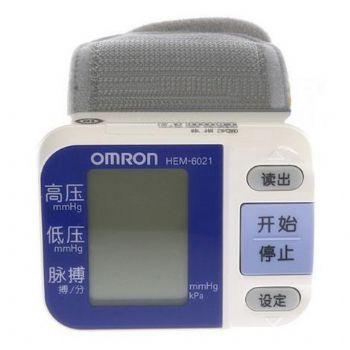 欧姆龙电子血压计HEM-6021型 智能手腕式