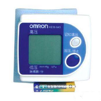 欧姆龙电子血压计HEM-645型 手腕式