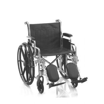 鱼跃轮椅车H102型 电镀车架 皮革靠垫