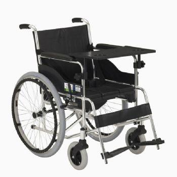 上海互邦轮椅车HBL9-B型 带餐桌,带便桶