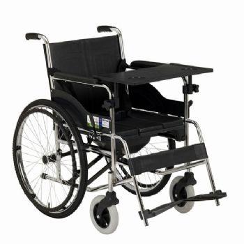 上海互邦轮椅车HBG15-B型 沉降式座便垫、带便桶、餐桌板