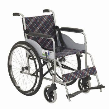 上海互邦轮椅车HBG25型 钢管喷塑 软座 24寸后轮