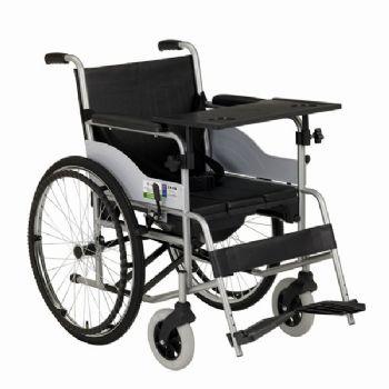 上海互邦轮椅车HBG16-B型 沉降式座便垫、带便桶、餐桌板