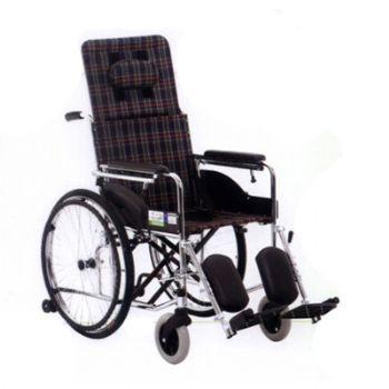 上海互邦轮椅车HBG9型 软座垫、可半躺高靠背