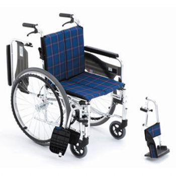 Miki 三贵轮椅车MPTCWSW-47JL型(小轮) 立体车架 后背可折叠