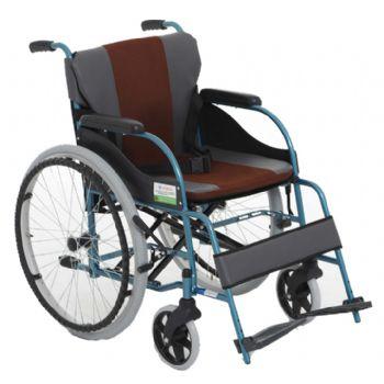 上海互邦轮椅车HBL8型 8寸前轮 24寸后轮 加厚软座