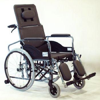 上海互邦轮椅车HBL10-BFQ型 高靠背可全躺、带便桶