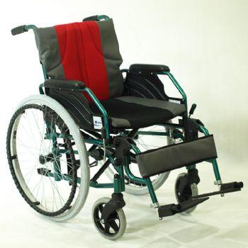 上海互邦轮椅车HBL3-P型 活动扶手 活动可卸式搁脚 蓝色