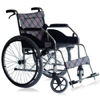 上海互邦轮椅车HBL1-S型 24寸后轮 带后手刹 软座