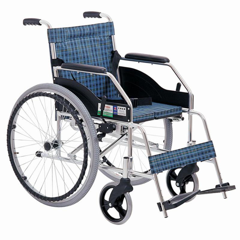 上海互邦轮椅车HBL1-Y型 24寸后轮 硬坐垫
