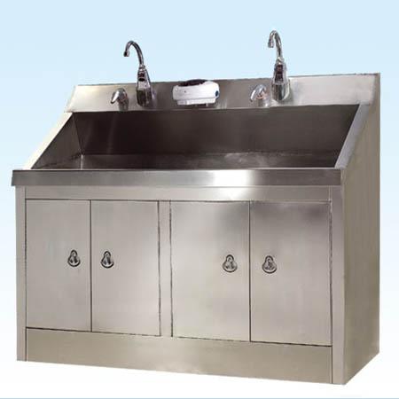 普康无菌室感应洗手池G-1型 不锈钢  1650×650×800/1100mm