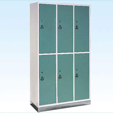 普康更衣柜G-20型 不锈钢底六门 960×400×1750mm