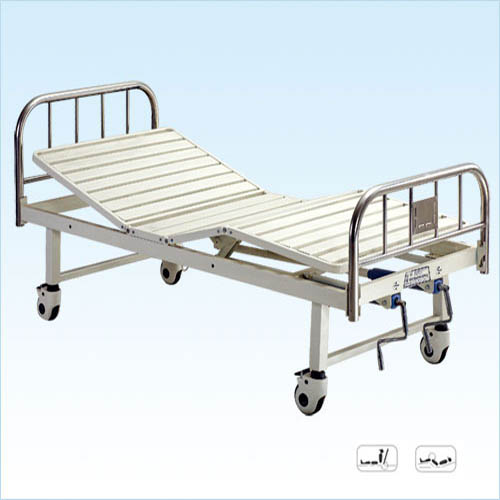 普康双摇床B-28型 不锈钢床头 可移动   2030×900×500mm