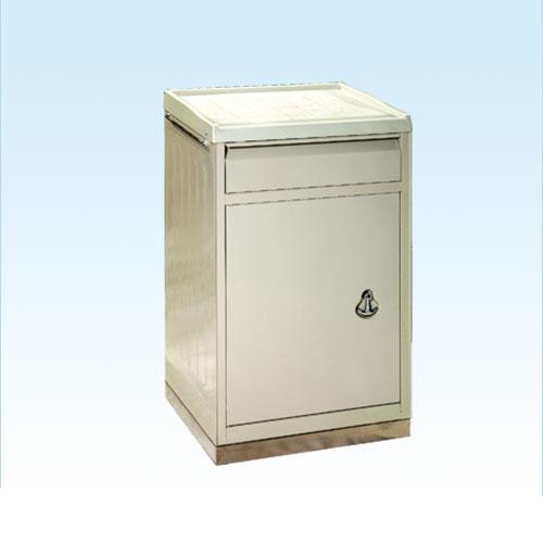 普康床头柜D-5型 ABS面 不锈钢底  475×395×770mm