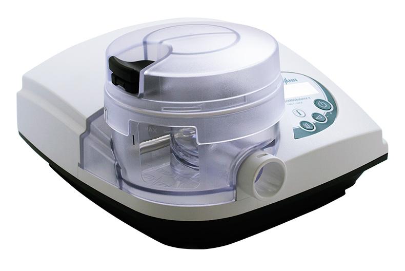 德国万曼呼吸机SOMNObalance e 自动单水平 产品实拍图 主机+加湿器组合