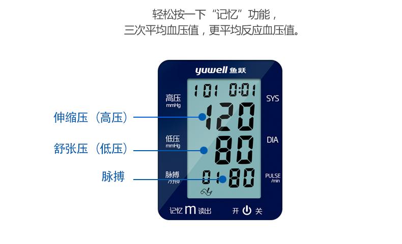 鱼跃 电子血压计 YE660A