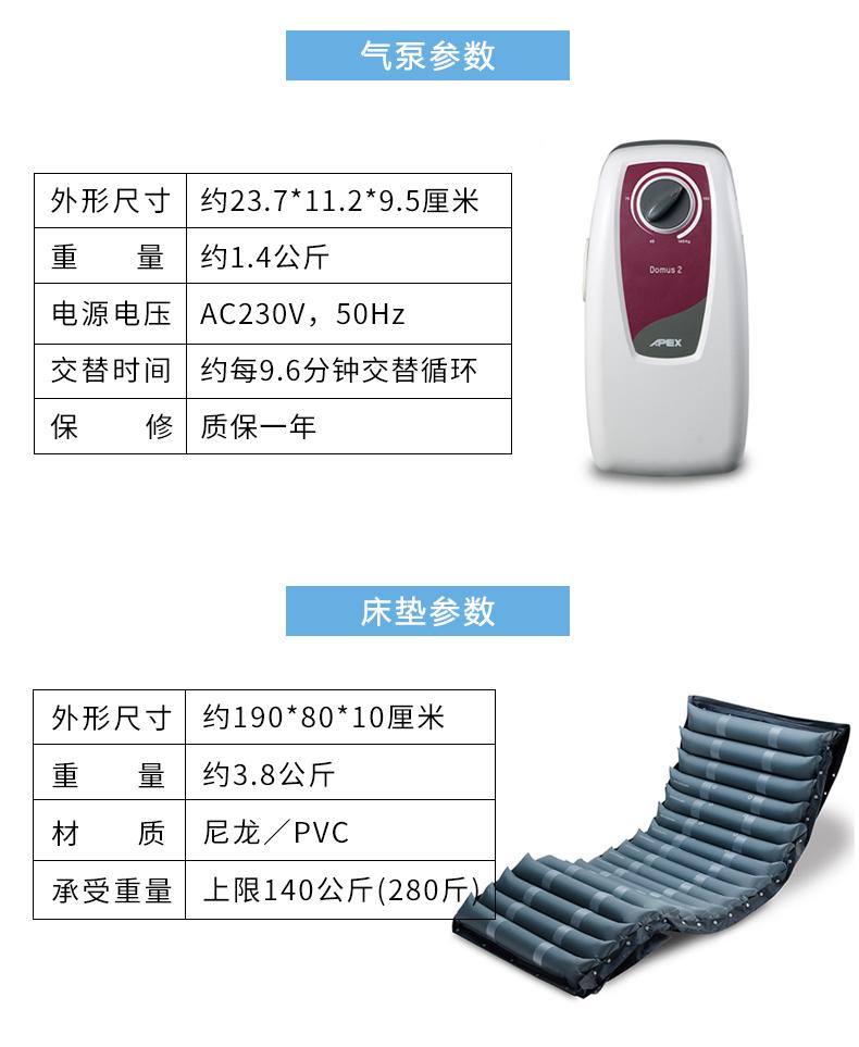 雅博 防褥疮气垫 DOMUS 2 产品参数